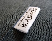 Fabric Labels 1200 pcs Custom Satin Folded Care Label Black Printed on white Clothing Labels OEKO TEX certified Delivered CUT