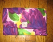 Purple Floral Purse
