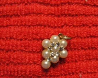 Vintage Tiny Pearl Pendant
