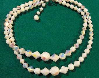 Vintage Glass Beads 2 strand necklace