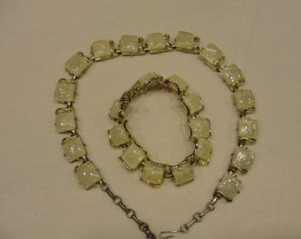 Vintage coro Thermoset necklace and bracelet