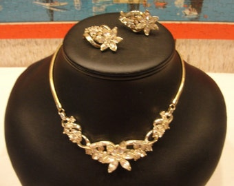Just  reduced vintage coro Adolph Katz necklace and Matching clip earrings