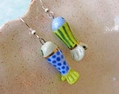 Tropical Fish Earrings Handmade Beads
