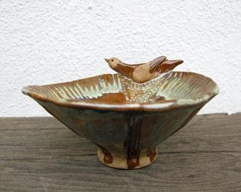 Woodland Bird Bowl Stoneware Clay