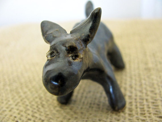 Funny Dog Clay Sculpture