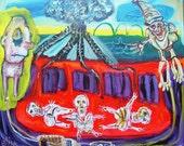 Santa Clause Detinates Fake Quakes Art Brut RAW Outsider Visionary Elisa