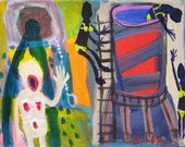 Hooterville Water Tower Outsider Art Brut  RAW Visionary Naive Elisa