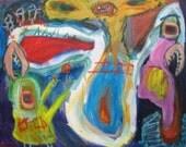 Monster 57 Outsider Art Brut RAW Visionary Naive Primitive Elisa