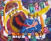 Neighborhood Drowning Outsider Art Brut RAW Visionary Naive Primitive Elisa