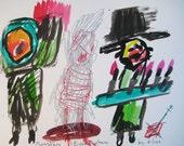 Monsters Everywhere Outsider Art Brut RAW Visionary Naive Elisa