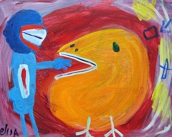 The Bird Outsider Art Brut Naive Primitive Elisa