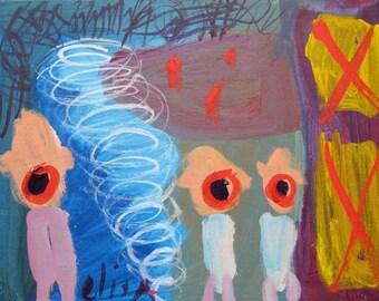 Dead Rain Art Brut RAW Outsider Visionary Naive Primitive Elisa