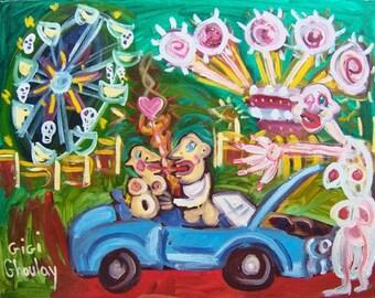 16X20 PRINT Carnival Of Souls Art Brut RAW Elisa
