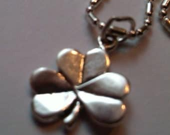 Sterling Silver Shamrock Pendant on a S/P chain