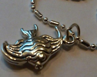 Sterling Silver Angel Fish pendant on a S/P chain