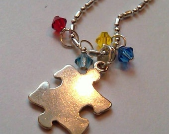 Sterling Silver Autism Awareness Puzzle Piece Pendant