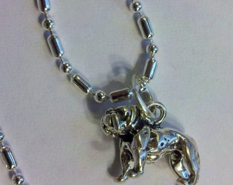 16 1/2 s/p chain with sterling silver Bull dog pendant charm