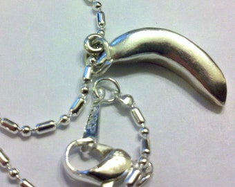 16 1/2 s/p chain with sterling silver Banana Faithfulness pendant charm