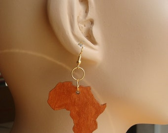 Africa Earrings / small copper