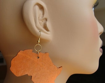 Africa Earrings / medium copper
