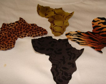 African Iron On Applique