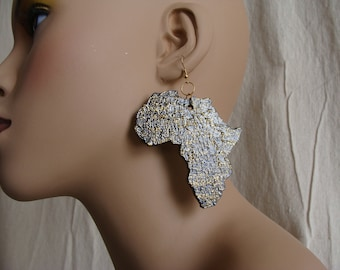 Africa earrings / medium with Sparkle
