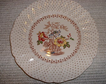 Vintage Royal Daulton Grantham England China Luncheon Plate 8 5/8 inch set of 10