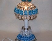 Bead and Lace Lamp