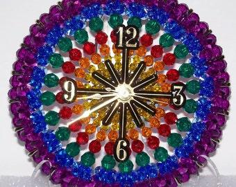 Rainbow Beaded Clock