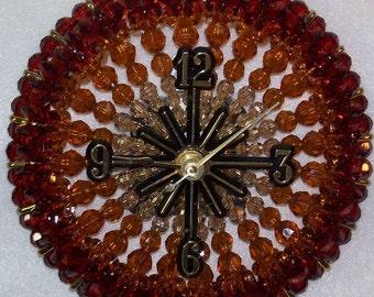 Shades of Brown Beaded Clock