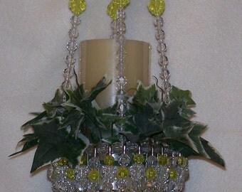 Beaded Hanging Basket