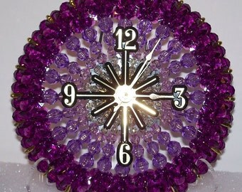Bead and Safety Pin Clock