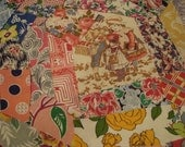 200 Piece Scrap Packet Vintage Feedsack Fabric Assortment for Quilts or Crafts