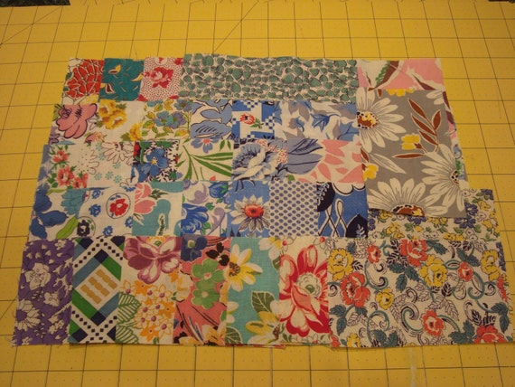 33 Sampler Packet  Premium Vintage Feedsack Fabrics for Quilts or Crafts  Quality Nice Variety Assorted Sizes