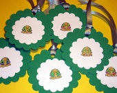 Set of 6 Adorable 3 Inch Turtle Tags