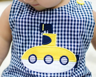 Yellow Submarine Boys Romper or Longall