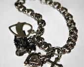 Vintage Charm Bracelet Sterling Silver