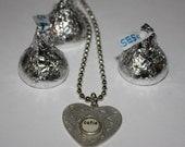 Vintage Heart Pendant/Necklace  Valentine