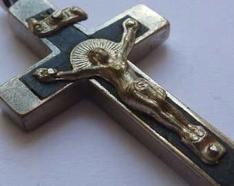 Vintage Ornate Crucifix Cross Pendant