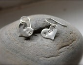 Donation to Charity. Heart earrings. Sterling silver hearts. XOXO stamped. Hugs and kisses. Love earrings. small hearts. - KittyStoykovich