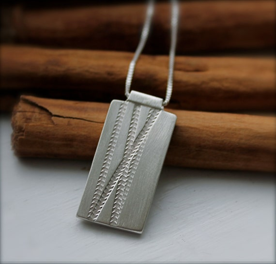Road/Mountain Bike Necklace. Cycling. Tire Track Design. Tour de France. Bike Accessory. Thick Sterling Silver. Groom. OOAK.