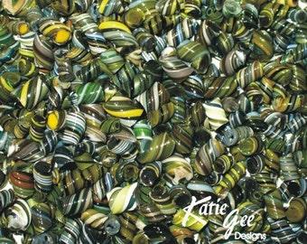 Whirled Peas and Moldy Cheese - Handmade WHIRLWIND Murrini - 104 coe Glass - Katie Gee - SRA