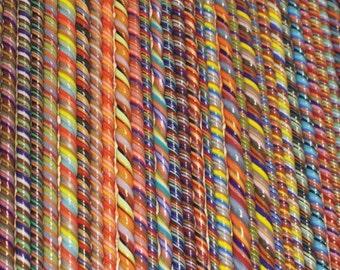 Fiesta - A Celebration of Color - Handmade 104 coe Glass Twisties SRA