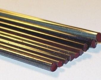 Silvered Dark Crimson - Handmade / Handpulled Silvered Stringers - 104 coe Glass - Katie Gee - SRA