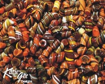 When Autumn Leaves Start To Fall - Handmade WHIRLWIND Murrini - 104 coe Glass - Katie Gee - SRA