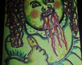 Stringy Sally Cabbage Patch Gross Aceo