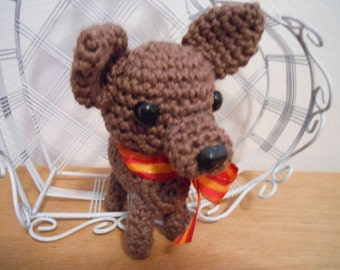 Mini Chihuahua Crochet Dog, Amigurumi, Canine, Stuffed Dog, Chi, Dog Lover, Stuffed Chihuahua
