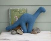 Turquoise Wool Dinosaur