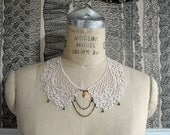 lace collar necklace : MARJORIE, ivory (last one)