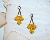 lace earrings : ROBA, mustard yellow